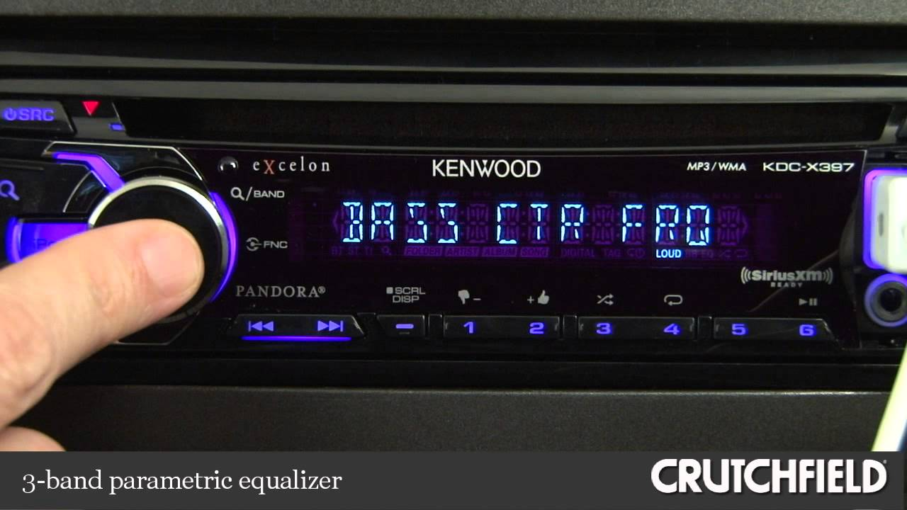 kenwood excelon kdc x397 car receiver demo crutchfield video youtube rh youtube com Kenwood eXcelon DDX7015 Kenwood eXcelon KDC- X395