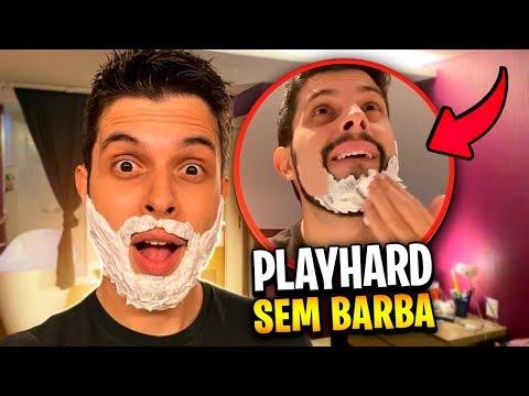 PLAYHARD SEM BARBA PELA PRIMEIRA VEZ EM 8 ANOS!!