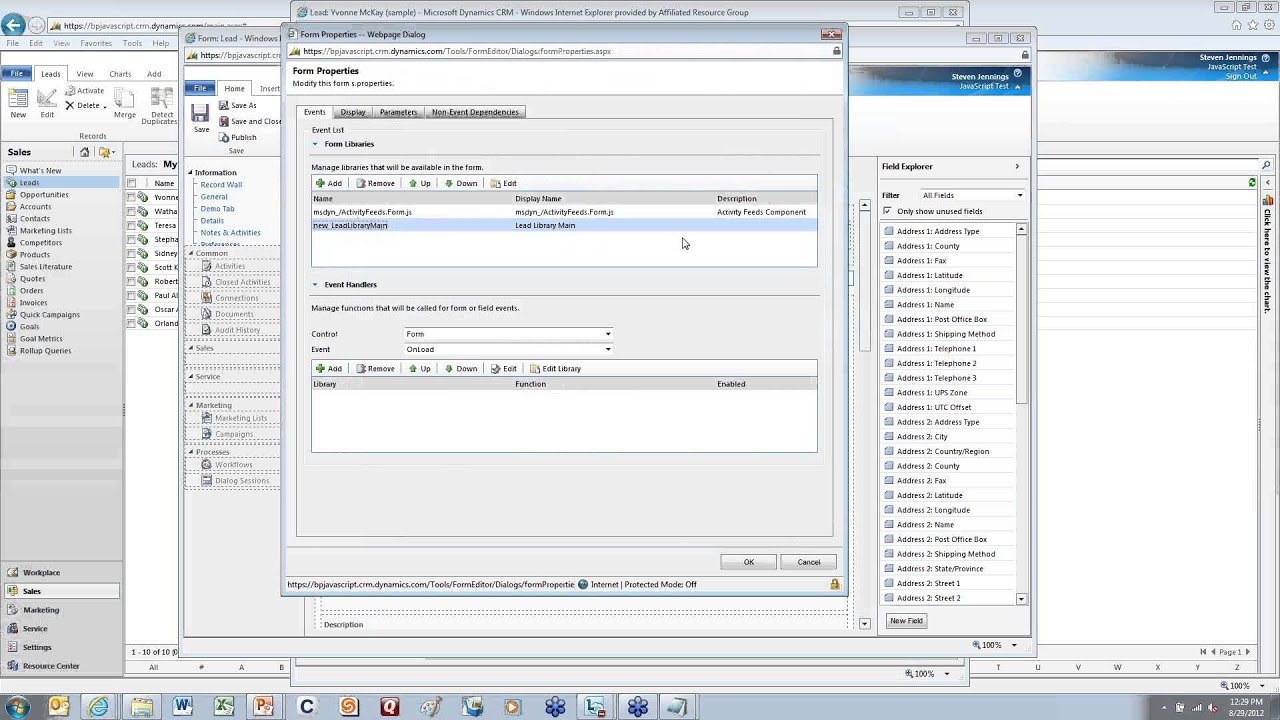 JAVASCRIPT - Microsoft Dynamics CRM 2011 Best Practices Webinar Series,  Session 2