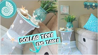 DOLLAR TREE END TABLE BEACH DECOR TUTORIAL
