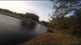 Remote control boat crash.
