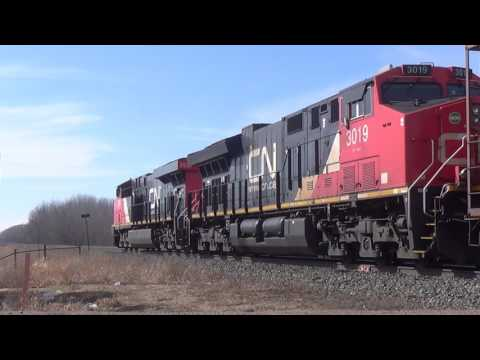 Trackside With Canadian National Railway in Edmonton | March