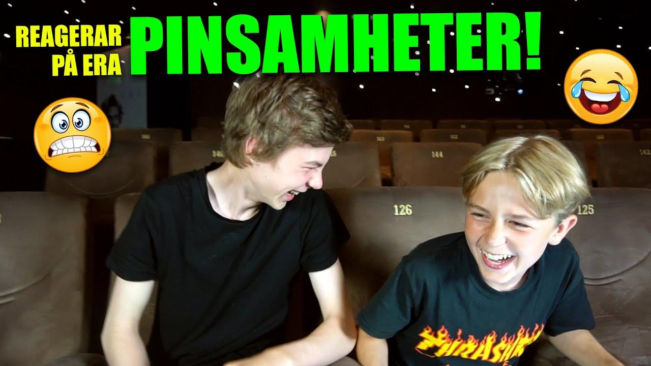 REAGERAR PÅ ERA PINSAMHETER (skrattar så vi gråter!)