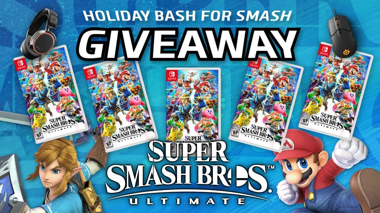 Holiday Bash for SMASH: Super Smash Bros. Ultimate GIVEAWAY!