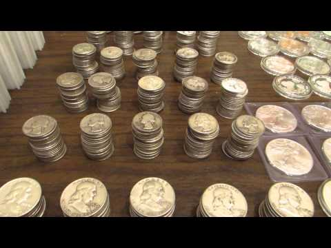 Full Silver Stack 770 oz. $500 Junk Silver, American Silver Eagle
