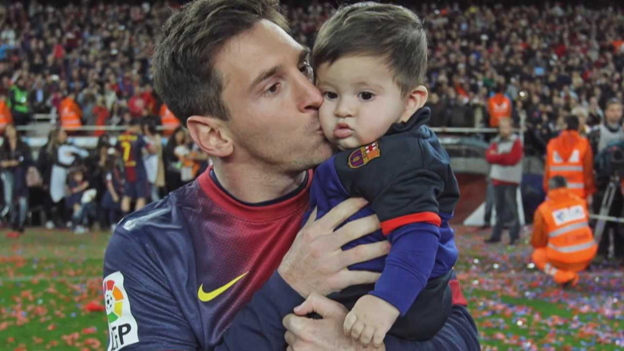 Image result for lionel messi's sons thiago