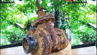 Restoration water valve very rusty - Restore the water valve old giant