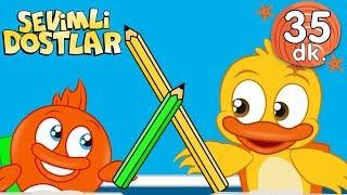 Uzun Kalem, Kısa Kalem şarkısı ve Sevimli Dostlar Bebek Şarkıları | Adisebaba Kids Songs