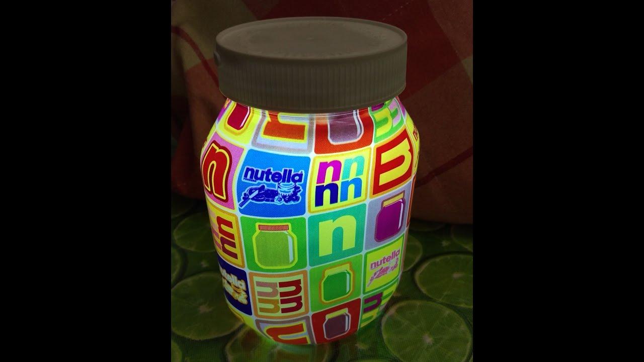Lampada Barattolo Nutella : Nutellampa binomio lampada e nutella now you