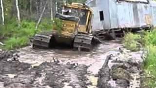 по бездорожью зимой на тракторах и вездеходах работа геологоразведчиков на севере России #2