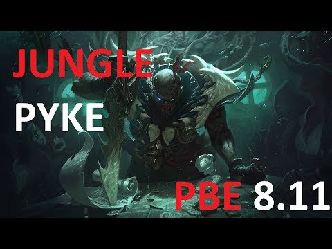 [League of Legends PBE] Jungle Pyke (full game no commentary)