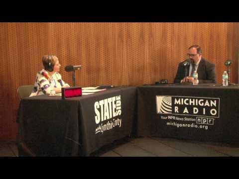 "Michigan Radio Stateside - ""Live in Flint"" 4/22/2017 - Sen. Jim Ananich - 5 of 7"