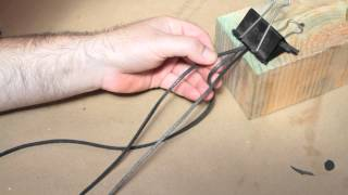 How to Braid a Leather Necklace : Working With Leather