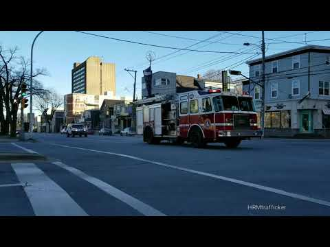 Halifax Firefighters Respond To An Alarm Call On Quinpool Road