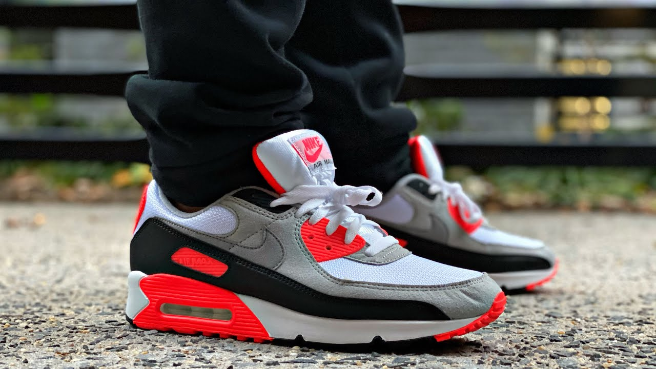2020 AIR MAX 90 INFRARED REVIEW & ON FEET  RADIANT RED AIR MAX 3 OG