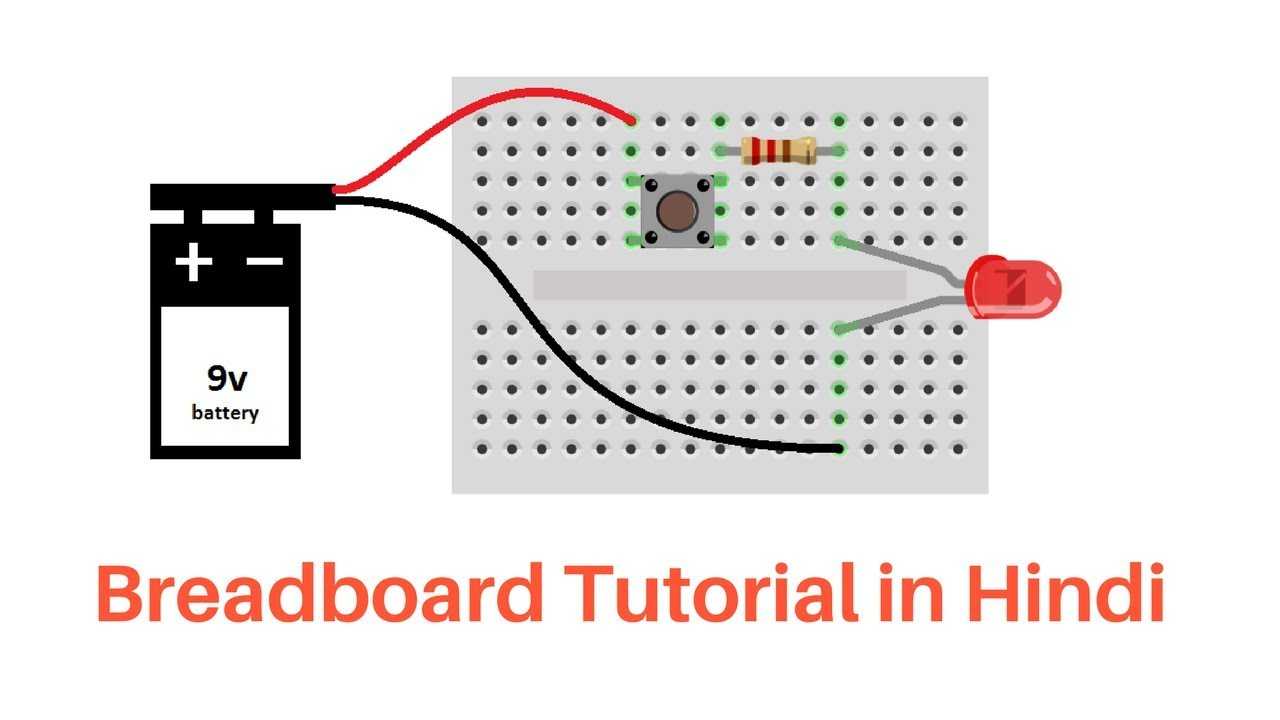 Breadboard Circuit Connection in Hindi - YouTube