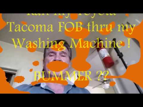 Ran my Toyota keyless remote thru my Washing Machine! - YouTube