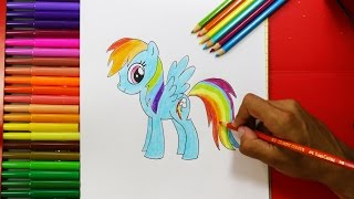 How to Draw Rainbow Dash Equestria Girls -  como dibujar Rainbow Dash