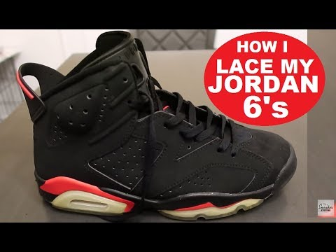 How To Lace My Air Jordan 6 VI OG Retro Sneakers #SNEAKERHEAD #JUMPMAN #SNEAKERNEWS