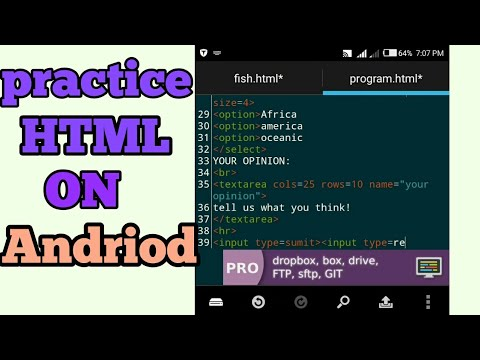 How To Practice HTML On Android Phone