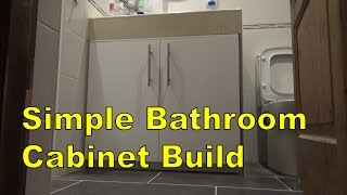 Simple Bathroom Cabinet Build