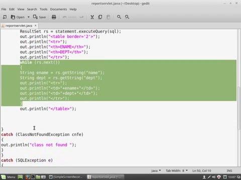 JDBC USING JAVA SERVLET AND MYSQL