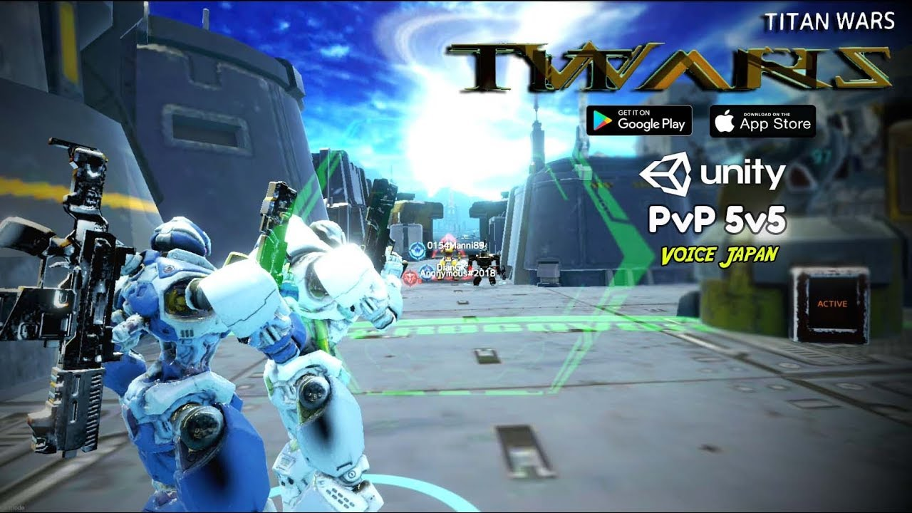 Masih tahap Test !!! Titan Wars (ENG) Android PvP 5v5 3D Action Game