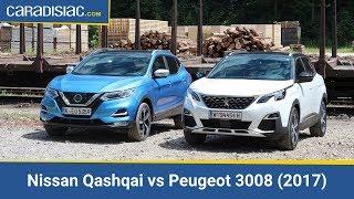 Comparatif Nissan Qashqai vs Peugeot 3008 2017 lutte pour un continent