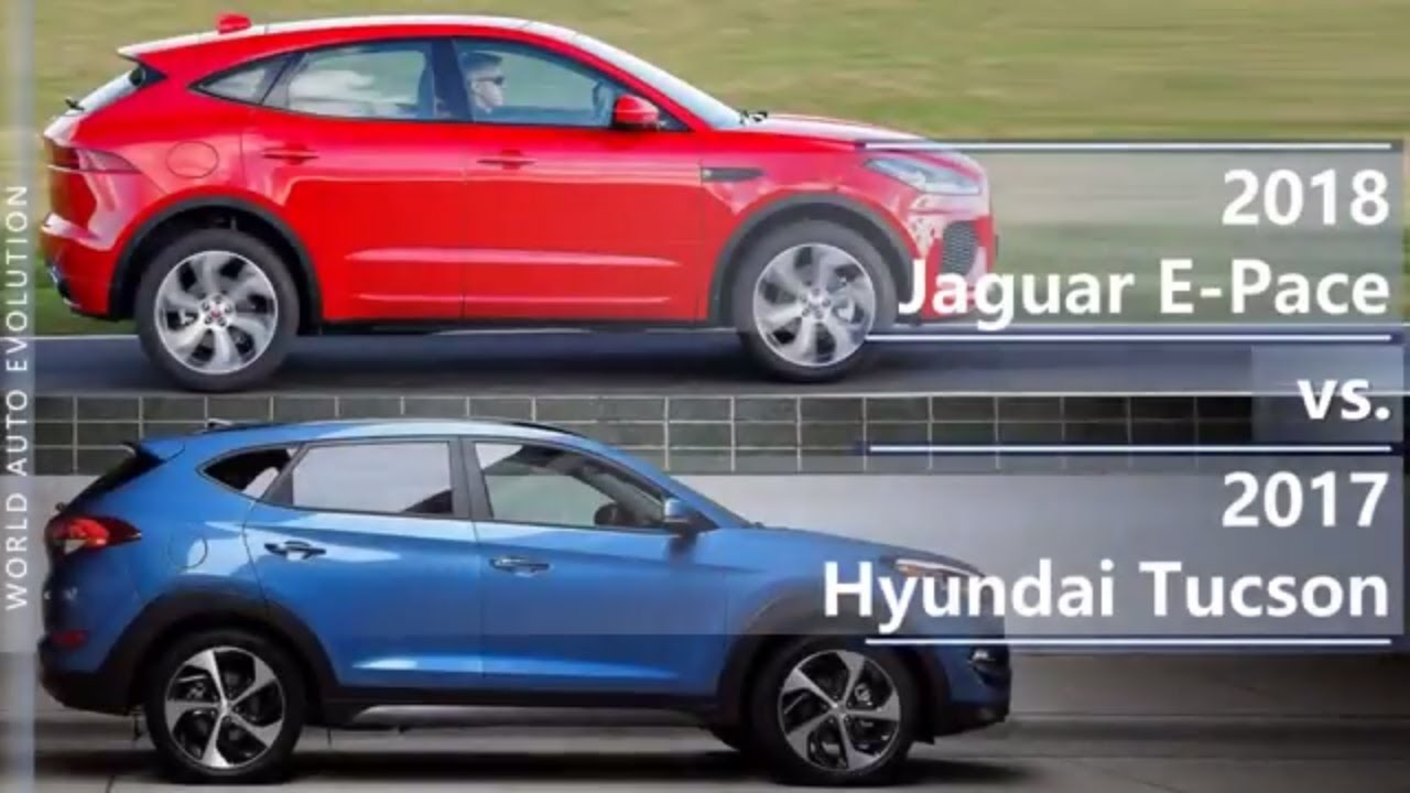 Tucson 2017 Vs Tucson 2018 >> 2018 Jaguar E-Pace vs 2017 Hyundai Tucson (technical comparison) - YouTube