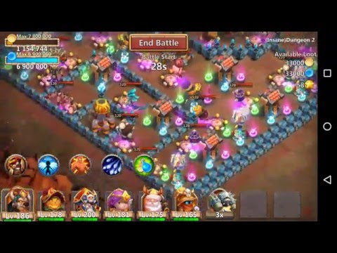 Castle Clash Insane Dungeon 3 Flame 2-1