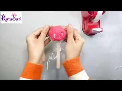 DIY Towel Lollipop Souvenir