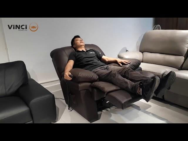 Nội thất Vincihome | Ghế Sofa da thư giãn Dallas | Sofa Babakagu Nhật Bản