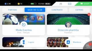 Co aumentar el contrato a los jugadores por 10 partidos PES 2017 mobil