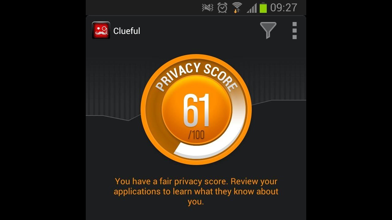 App permissions exposed with Clueful Privacy Advisor