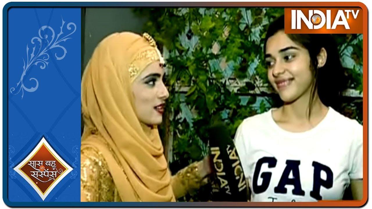 Download Zara aka Eisha visits the sets of Ishq Subhan Allah