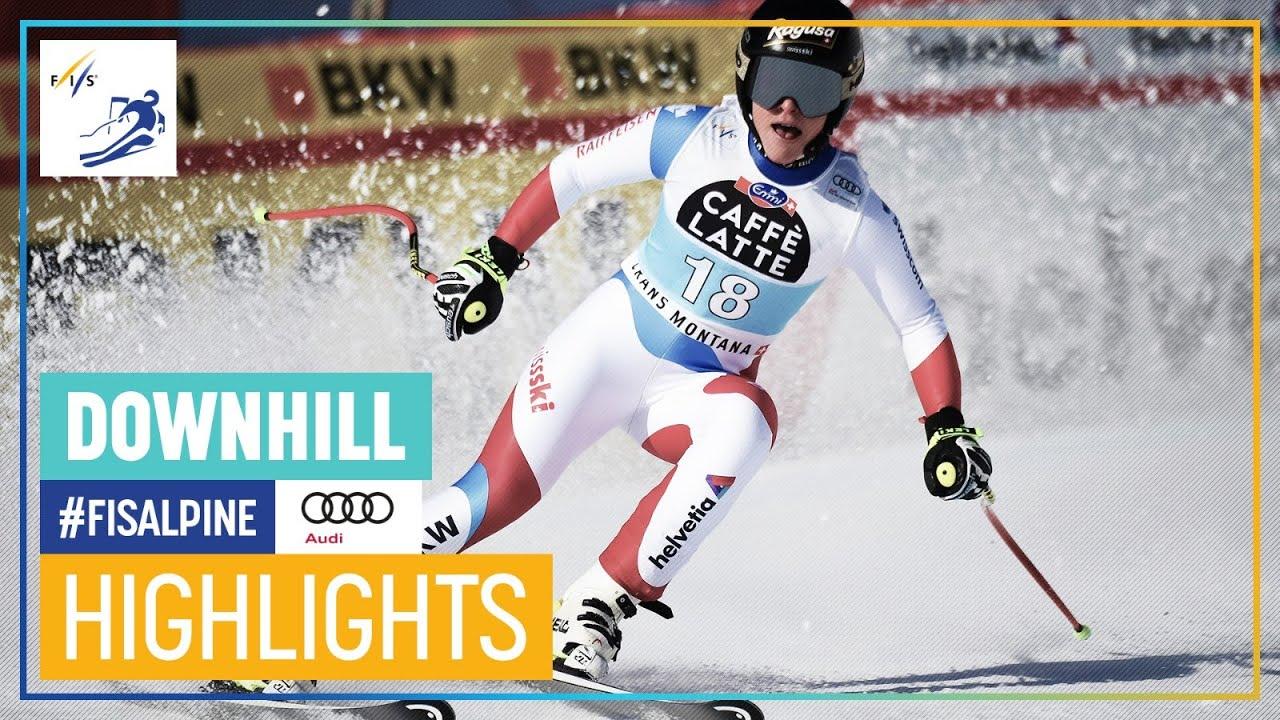 Lara Gut Wins Downhill in Crans-Montana