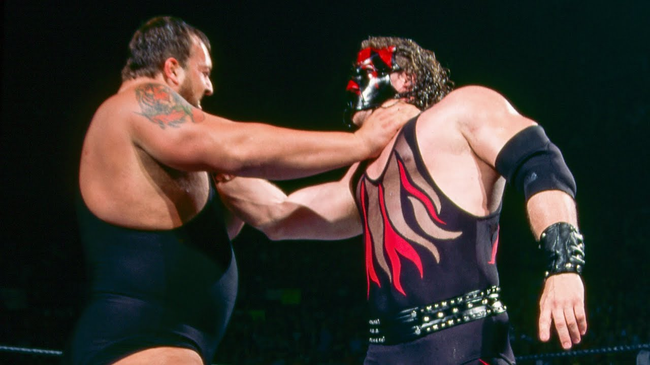 Kane powerslams Big Show from the Royal Rumble Match: Royal Rumble 2002