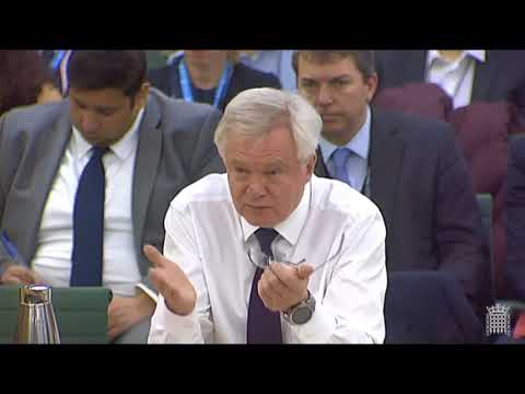 David Davis struggling hard in front of Committee
