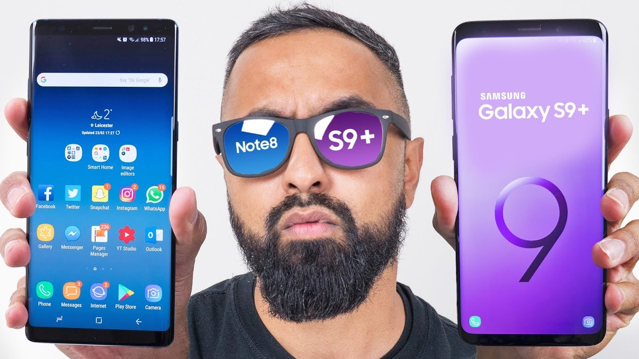Samsung Galaxy S9 Plus Vs Galaxy Note 8 Youtube