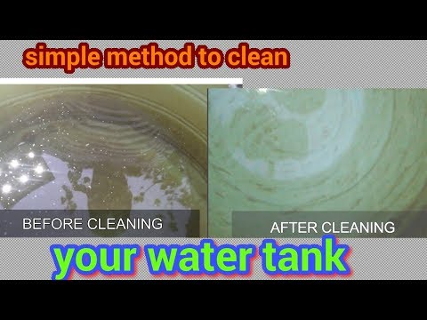 How to clean your water tank SIMPLE METHOD.