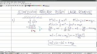 Jednoduché příklady modelování s Lagrangeovou rovnicí