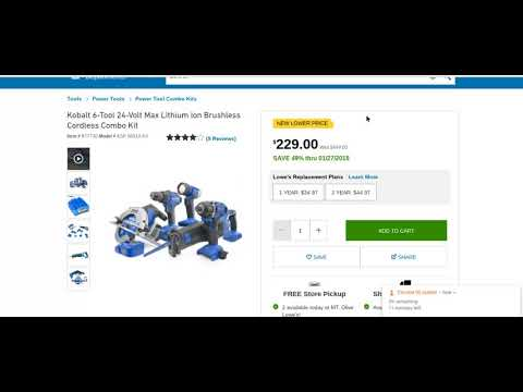 Kobalt 6 Tool Combo Epic Sale at LOWES !!!!
