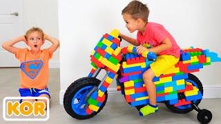 장난감 스포츠 바이크 & 장난감 놀이에 블라드와 니키타 라이드