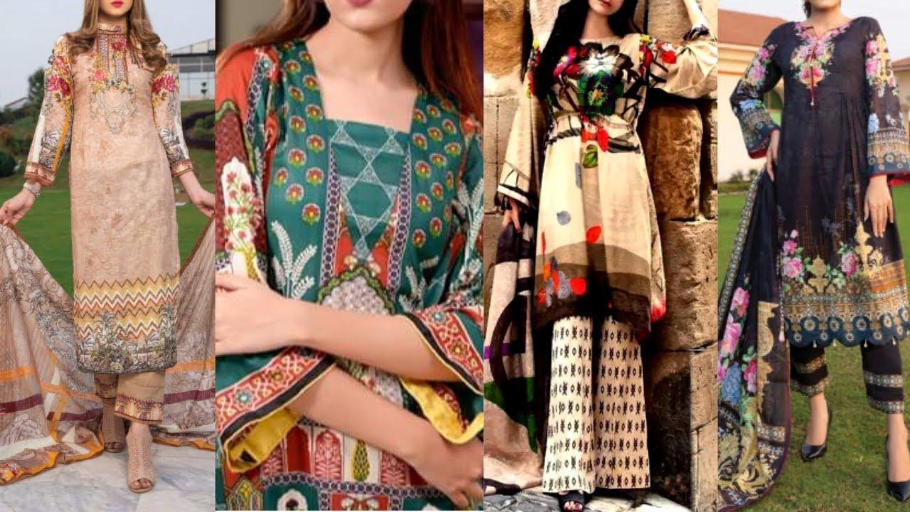 latest designer summer Lawn dress designs ideas for girls 2020