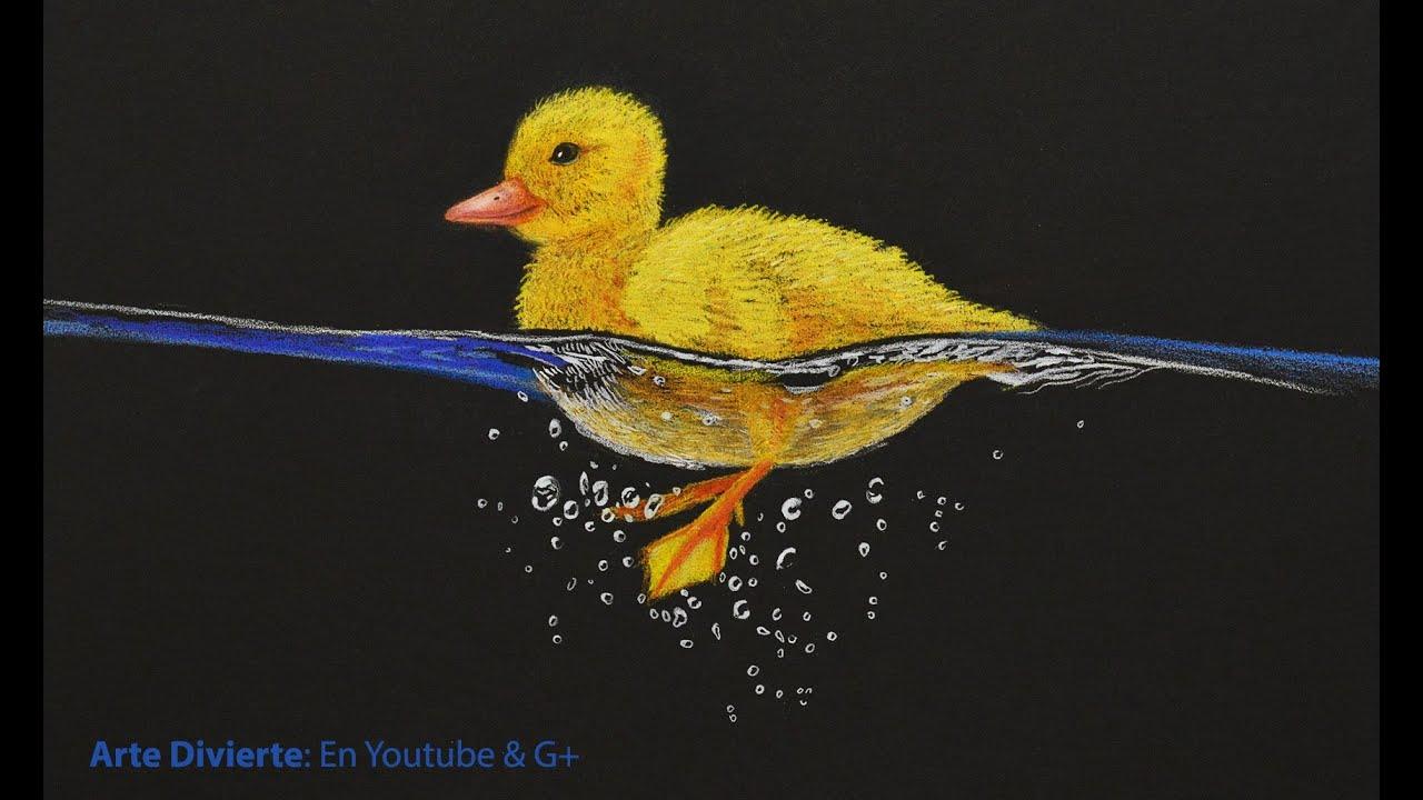 Cómo dibujar un pato amarillo nadando - Arte Divierte. - YouTube