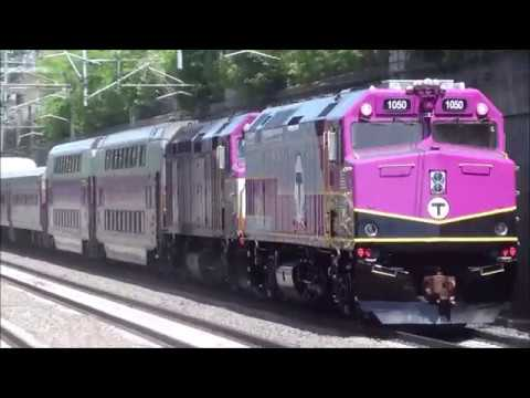 MBTA F40PH-3C 1050 Through Forest Hills TWICE With A Double Header!