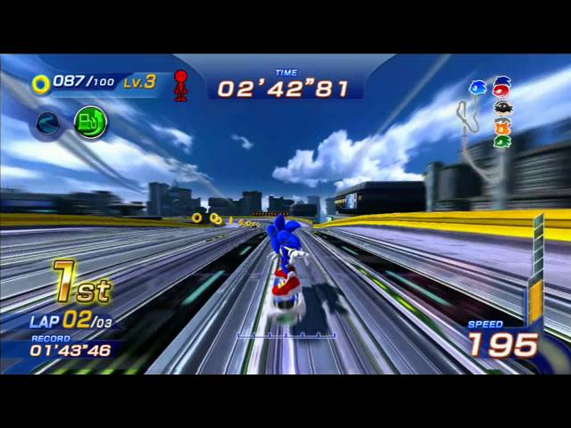 Sonic Free Riders: Metal City (Expert / Free Race) [1080 HD]