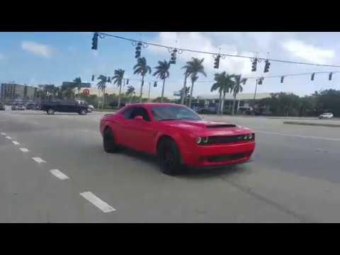 Dodge Demon Plus The Police Youtube