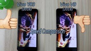 Vivo Y83 (2018) Vs Vivo V9 (2018) Comparision !! Speed Comparision !! HINDI