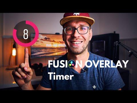 TIMER OVERLAY in Davinci Resolve Fusion bauen -  Fusion Animation Tutorial deutsch [2019]